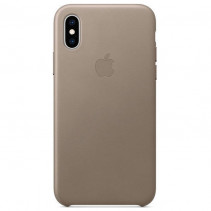 Чехол iPhone XS Leather Case Taupe (MRWL2)
