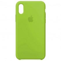 Чехол Apple iPhone XS Max Silicone Case Lime (Original copy)