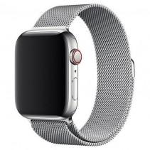Ремешок Apple Watch 44mm Milanese Loop Silver (MTU62)