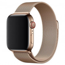 Ремешок Apple Watch 44mm Milanese Loop Gold (MTU72)