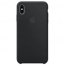 Чехол iPhone XS Silicone Case Black (MRW72)