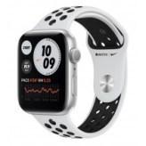 Apple Watch Nike Series 6 GPS 44mm Silver Aluminum Case w. Pure Platinum/Black Nike Sport Band (MG293)