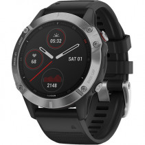 Смарт-часы Garmin Fenix 6 Silver with Black Band (010-02158-00)