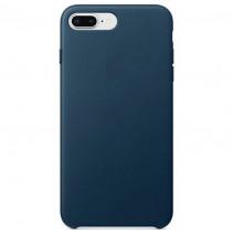 Чехол Apple iPhone 8 Plus Leather Case Cosmos Blue (MQHR2)