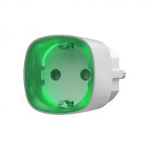 Умная розетка со счетчиком энергопотребления Ajax Socket белая, Jeweller, 230V, 11А, 2.5 кВт
