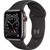 Apple Watch Series 6 GPS + LTE 40mm Graphite Stainless Steel Case w. Black Sport Band (M02Y3/M06X3)