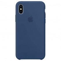 Чехол Apple iPhone X Silicone Case Ocean Blue (Original copy)