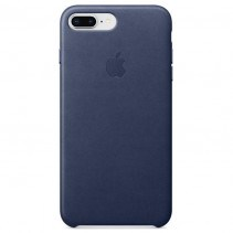 Чехол Apple iPhone 8 Plus Leather Case Midnight Blue (MQHL2)