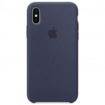 Чехол Apple iPhone XS Silicone Case Midnight Blue (Original copy)
