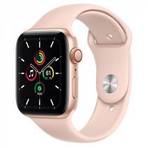 Apple Watch Series SE GPS + Cellular 44mm Gold Aluminum Case w. Pink Sand Sport B. (MYEP2)