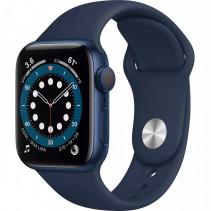 Apple Watch Series 6 GPS + LTE 44mm Blue Aluminum Case with Deep Navy Sport Band (M09A3)