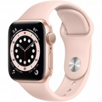 Apple Watch Series 6 GPS 40mm Gold Aluminum Case with Pink Sand Sport Band (MG123)