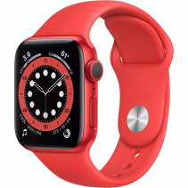 Apple Watch Series 6 GPS 44mm (PRODUCT) RED Aluminum Case with (PRODUCT) RED Sport Band (M00M3)