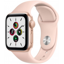 Apple Watch Series SE GPS 40mm Gold Aluminum Case with Pink Sand Sport Band (MYDN2)