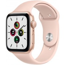 Apple Watch Series SE GPS 44mm Gold Aluminum Case with Pink Sand Sport Band (MYDR2)