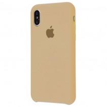 Чехол Apple iPhone X Silicone Case Beige (High copy)
