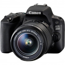Зеркальный фотоаппарат Canon EOS 200D kit (18-55mm) EF-S IS STM black