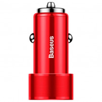 Автомобильное ЗУ Baseus Small Screw 3.4A Dual-USB Car Charger Red (CAXLD-C01)