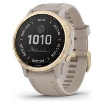 Смарт-часы Garmin Fenix 6s Pro Solar Edition Light Gold with Light Sand Band (010-02409-11)