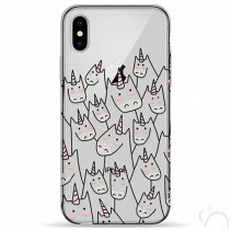 Чехол Pump Transperency Case for iPhone XS/X Attentive Unicorns
