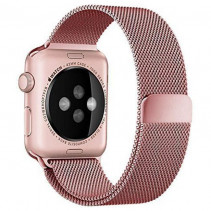 Ремешок Apple Watch 42mm Milanese Loop Band 316L Rose Pink