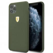 Чехол Ferrari Silicone Hard Case SF Logo Shield for iPhone 11 Pro - Midnight Green