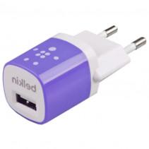 Сетевое зарядное устройство Belkin 1A 1-USB (Purple) (F8JO17E)