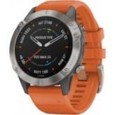 Смарт-часы Garmin Fenix 6 Sapphire Titanium with Ember Orange Band (010-02158-13)