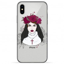 Чехол Pump Transperency Case for iPhone XS/X Flowers Religion