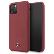 Чехол Mercedes Benz Liquid Silicone for iPhone 11 Pro Max - Red