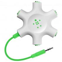 Разветвитель для наушников Belkin (jack 3.5мм/jack 3.5мм x5) Rockstar, Green (F8Z274btGRN)