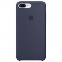 Чехол Apple iPhone 8 Plus Silicone Case Midnight Blue (Original copy)