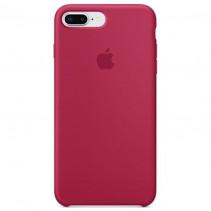 Чехол Apple iPhone 8 Plus Silicone Case Rose Red (Original copy)