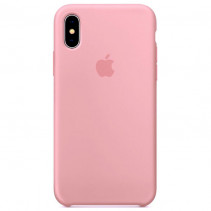 Чехол Apple iPhone XS Silicone Case Light Pink (Original copy)