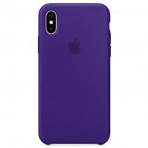 Чехол Apple iPhone X Silicone Case Ultra Violet (Original copy)
