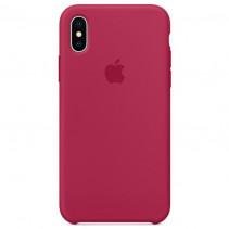 Чехол Apple iPhone X Silicone Case Rose Red (Original copy)