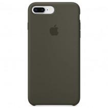 Чехол Apple iPhone 8 Plus Silicone Case Dark Olive (Original copy)
