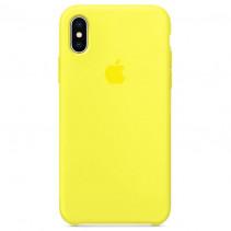 Чехол Apple iPhone X Silicone Case Flash (Original copy)