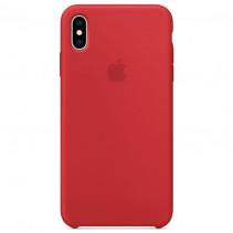 Чехол Apple iPhone Xs Max Silicone Case Red (Original copy)