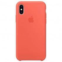 Чехол Apple iPhone XS Silicone Nectarine (Original copy)