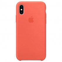 Чехол Apple iPhone XS Silicone Case Nectarine (Original copy)