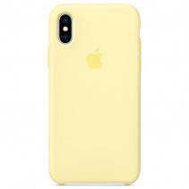 Чехол Apple iPhone XS Max Silicone Case Mellow Yellow (Original copy)
