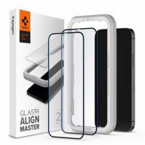 Защитное стекло Spigen для iPhone 12 mini Glas tR ALM FC (2Pack), Black