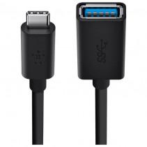 Адаптер Belkin USB 3.0 (CM/AM) 0.14м, Black (F2CU036btBLK)