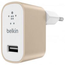 Сетевое ЗУ Belkin USB Mixit Premium (USB 2.4Amp), Gold (F8M731vfGLD)