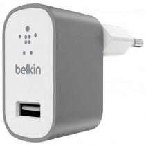 Сетевое ЗУ Belkin USB Mixit Premium (USB 2.4Amp), Gray (F8M731vfGRY)
