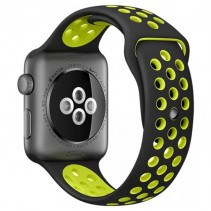 Ремешок Nike+ Apple Watch 38mm Black/Volt Nike Sport Band