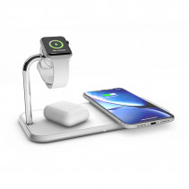 Беспроводная док-станция Zens Dual + Watch Aluminium Wireless Charger White (ZEDC05W/00)
